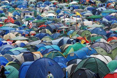 Glastonbury-tents
