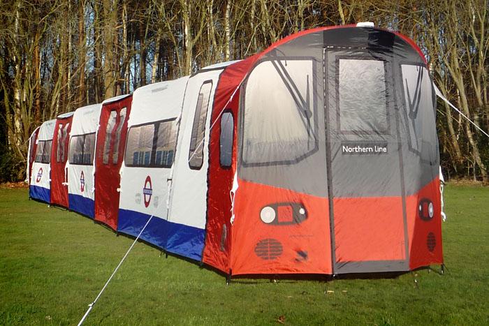 Speciaal voor groepen: de London Underground tent