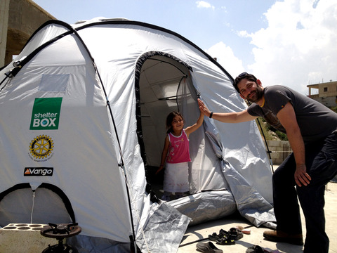 ShelterBox is the first aid agency in the world to distribute tents to Syrian refugees in Lebanon with the permission of the Lebanese Government.