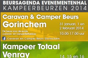 Ook in 2014 weer kampeerbeurs in drie Evenementenhallen
