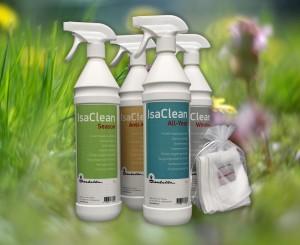 IsaClean, een nieuwe reeks reinigingsmiddelen voor de voortent