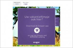 Beoordeel en film je camping met de Snipper app