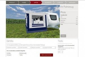 Gusto voortent bestellen via online 3D configurator
