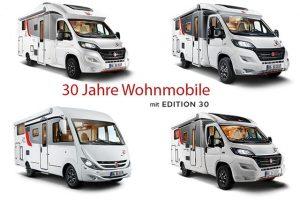 Jubilerend Bürstner introduceert speciale Edition 30 modellen