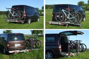 Roman Buck Verschuifbare en zwenkbare fietsendrager voor buscampers
