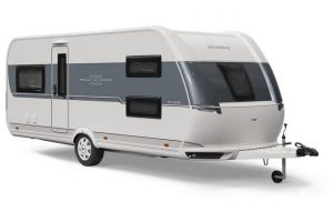 Hobby's eerste caravan met hefbed