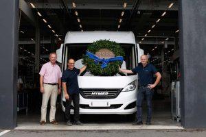Voor het eerst 10.000 voertuigen in één jaar van de band bij Hymer