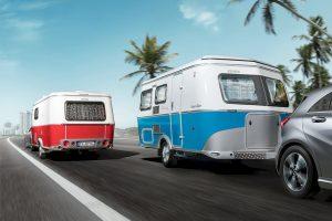 Vintage look voor de Eriba Touring Troll in Rockabilly en Ocean Drive uitvoering