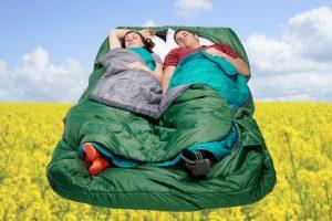 Tweepersoons slaapzak met individuele temperatuurregeling