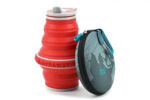 HideAway drinkfles opvouwbaar siliconen