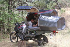 Moto Home motorfiets camper