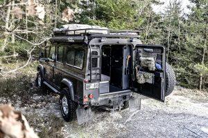 Nordic Overland camperinterieur voor Land Rover Defender 110