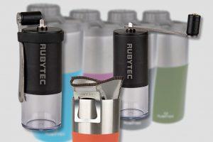Overal koffie zetten met compacte koffiemolen en herbruikbaar filter