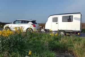 Dashaway e-caravan is speciaal ontworpen voor elektrische auto's