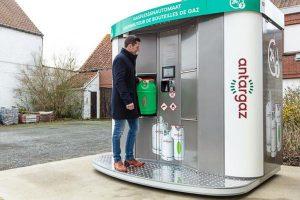 Antargaz plaatst gasflessenautomaat in Almere