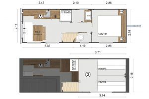 RapidHome Tiny House indeling