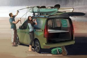 Nieuwe Volkswagen Mini-Camper is gebaseerd op geheel vernieuwde Caddy