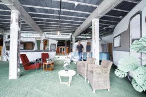 Outside Inn: indoor overnachten in vintage caravans, strandhuisjes of Pipowagen