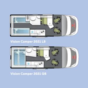 Vision Camper indelingen
