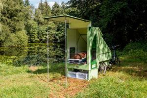 Scout kampeeraanhangers voor e-bikes