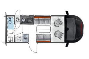 Challenger Combo X 150: compacte halfintegraal camper