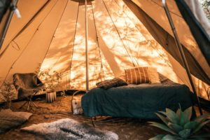 Glamping in je eigen Robens tent