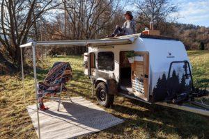 Bruno: duurzame en sportieve minicaravan van Kuckoo Camper