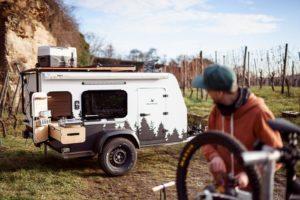 Bruno Squaredrop trailer Cuckoo Camper