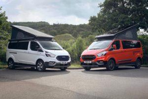Nieuwe Active en Trail uitrustingsvarianten Ford Nugget buscamper