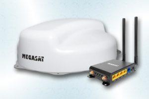 Storingsvrije internetontvangst via het Camper Connected LTE-Wifi-systeem van Megasat