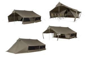 Twee nieuwe lodge-tenten bij Snow Peak