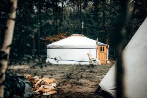 Back-to-basic op pop-up camping Winterwoods